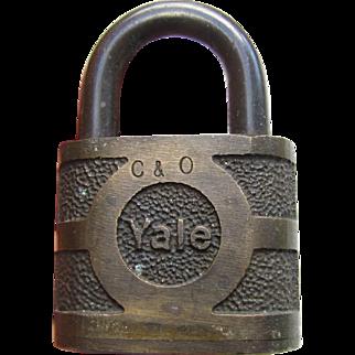 CO (Chesapeake & Ohio) Railroad brass Lock  (no key)