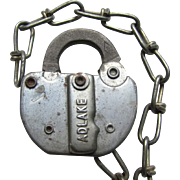 PC (Penn Central) Railroad steel Switch Lock  (no key)