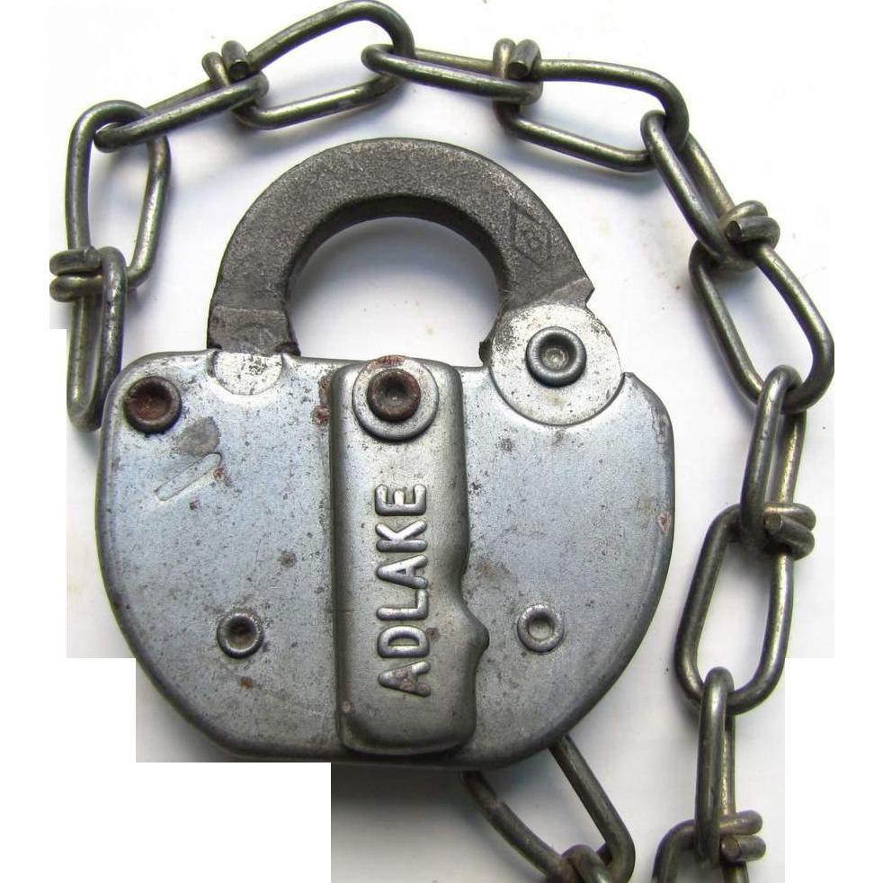 PC (Penn Central) Railroad steel Switch Lock  (no key)