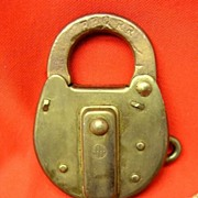 Brass switch lock with steel key- EEC RR (East Erie Commercial)
