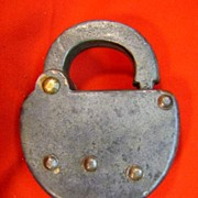 PRR (Pennsylvania) railroad steel Switch Lock (no key)