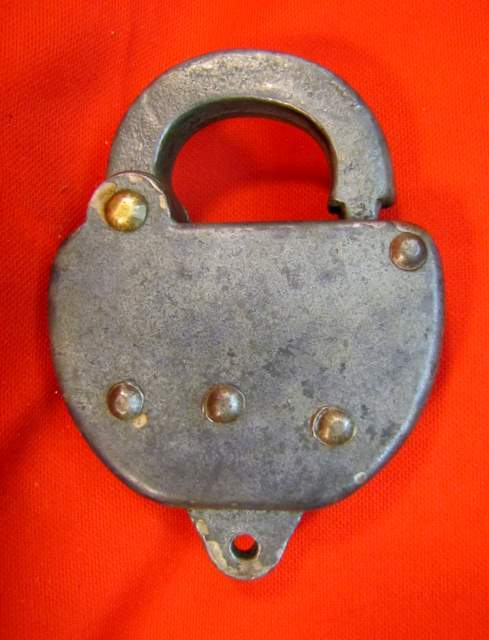 PRR (Pennsylvania) railroad steel Switch Lock (no key)