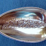 1890's Sterling Souvenir Citrus Spoon- ST. AUGUSTINE, FL., Whiting Mfg. Co.