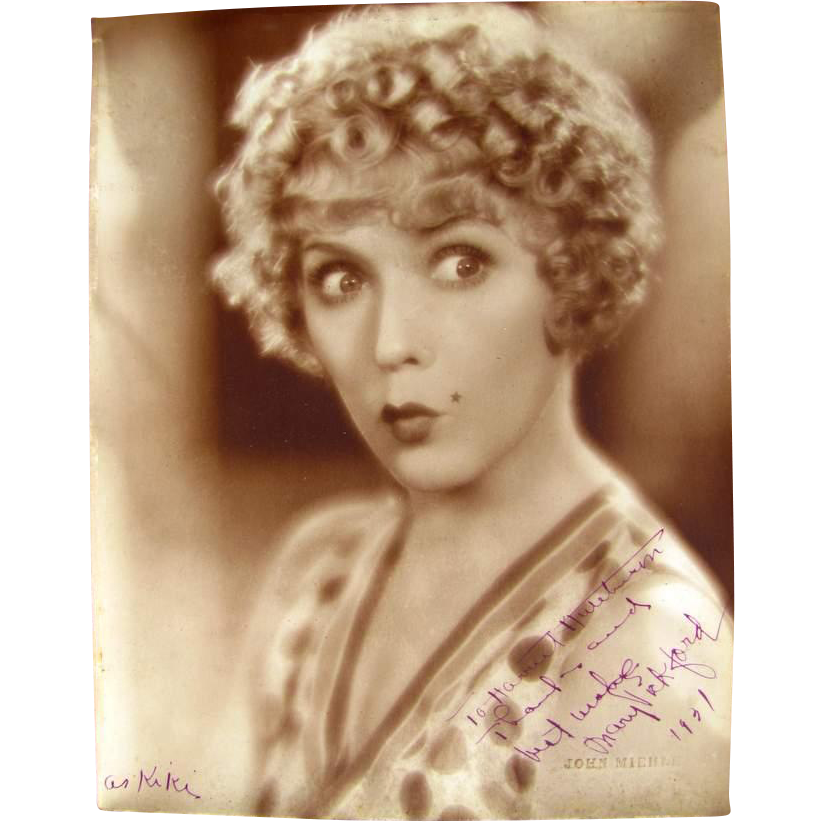 MARY PICKFORD-1931  personalized signed photo- as KIKI, 1931 Comedy film. Photo by John Miehle