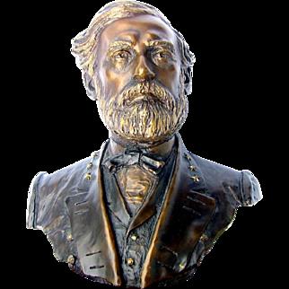 ROBERT E. LEE- Bronze Bust, Franklin Mint, by Jim Ponter