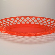 Vintage Red Plastic Bread Basket