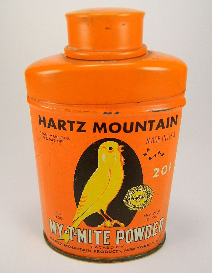 Vintage Hartz Mountain My-T-Mite Powder Tin