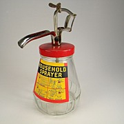 Vintage Household Sprayer with Original Label