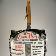 "Vintage ""Even Heat"" Heat Diffuser in Original Packaging"