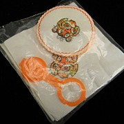Vintage Esso Tiger Cocktail Napkins, Coasters, & Plastic Bottle Cap in Original Packaging
