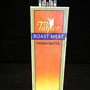 Vintage 1934 Taylor Roast Meat Thermometer in Original Box
