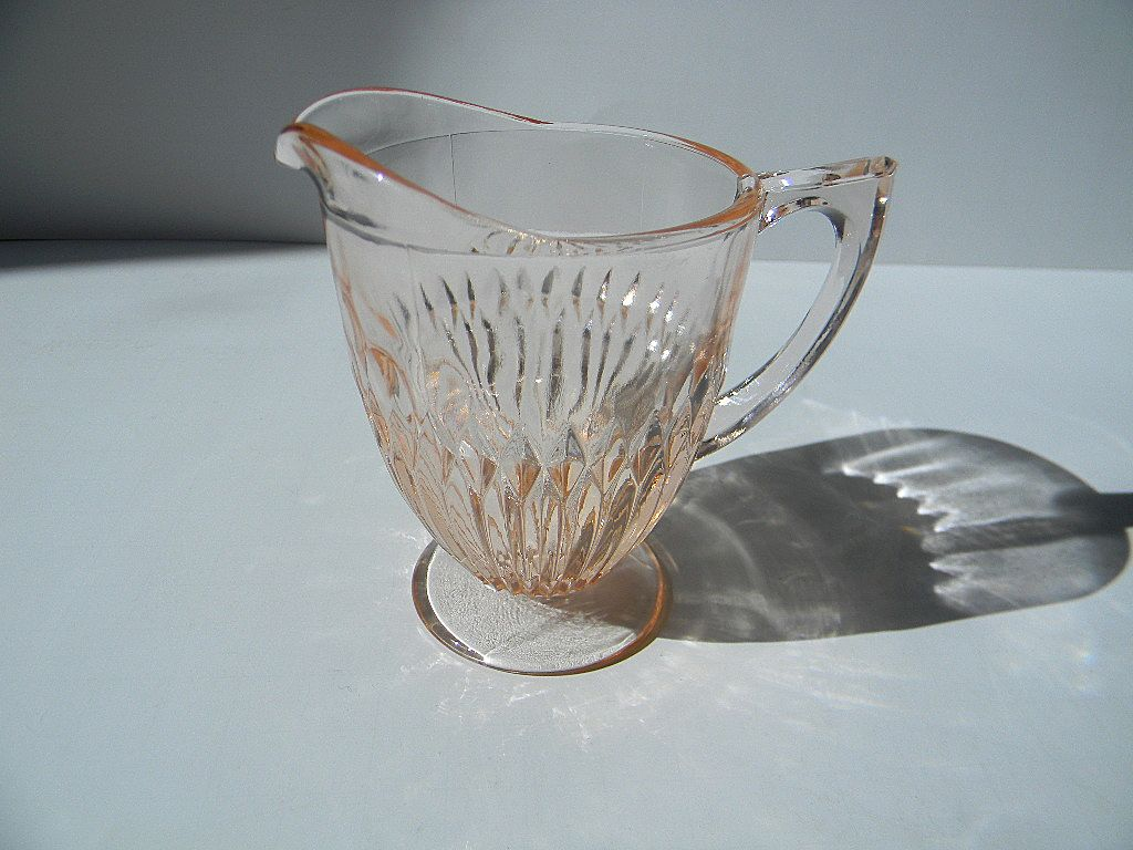 Vintage Pink Anniversary Creamer by Jeannette Glass Company