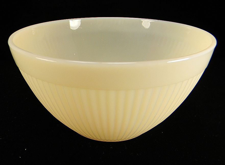 Fire King Ivory Ribbed Mixing Bowl