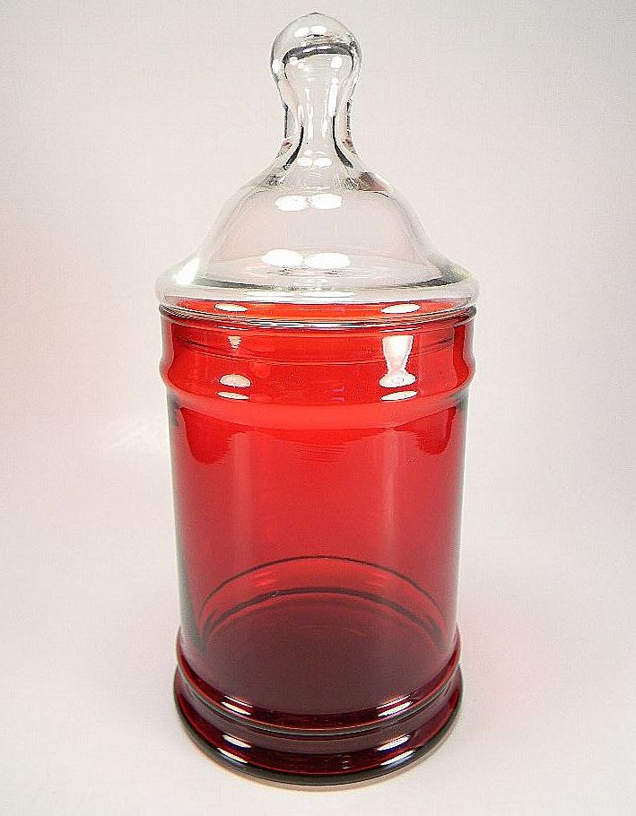 Anchor Hocking Royal Ruby Red Apothecary/Candy Jar & Lid