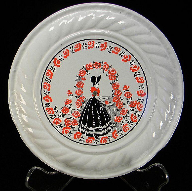 Vintage Belle & Roses Motif Chimney Cover with Original Price Sticker