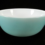 Hazel Atlas Blue Whiteware Cereal Bowl