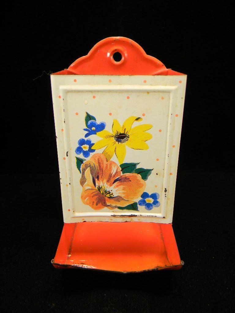 Vintage Polka Dot & Floral Match Safe