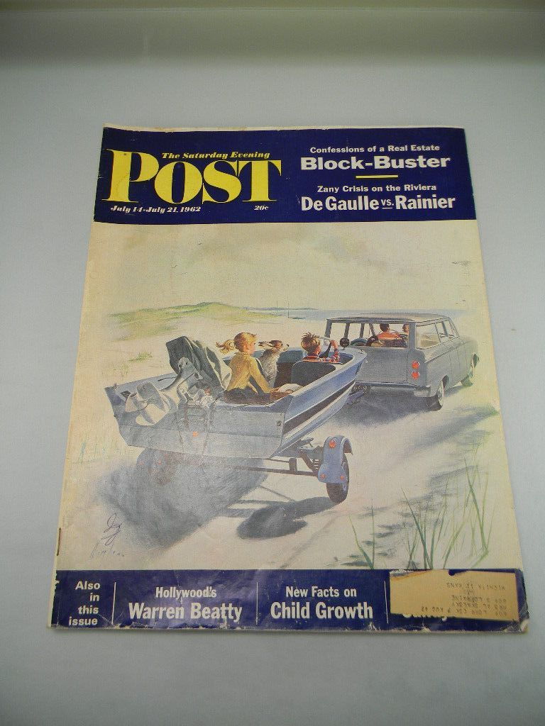 Vintage July 1962 Saturday Evening Post Magazine