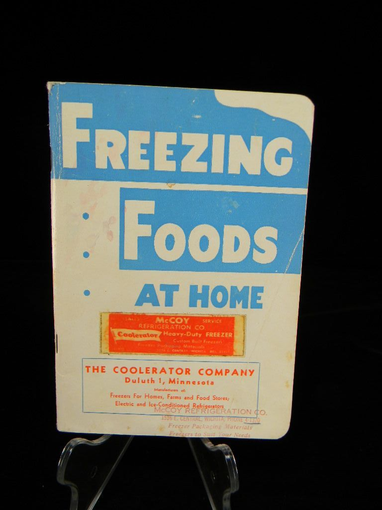 Vintage 1940's Freezing Foods at Home Booklet