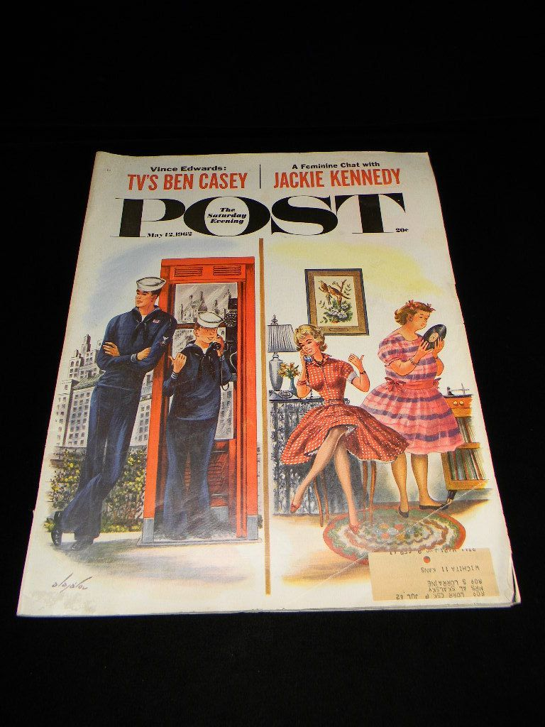 Vintage May 1962 Saturday Evening Post Magazine