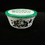 Vintage Cowboy Kiddie Ware Cereal Bowl with Tin Advertising Lid