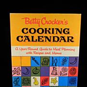 Vintage 1962 Betty Crocker's Cooking Calendar Cook Book