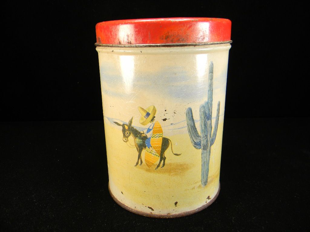 Vintage 1947 Old Reliable Coffee/Tea Canister