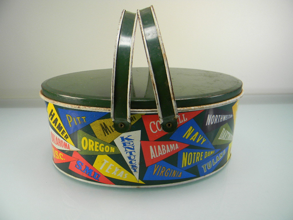 Vintage Ohio Art School Pennants Lunch Box