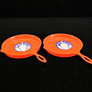 Two Plastic Spoon Rests/Drip Pans with Original Labels