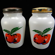 "Fire King ""Apples"" Salt & Pepper Shakers"