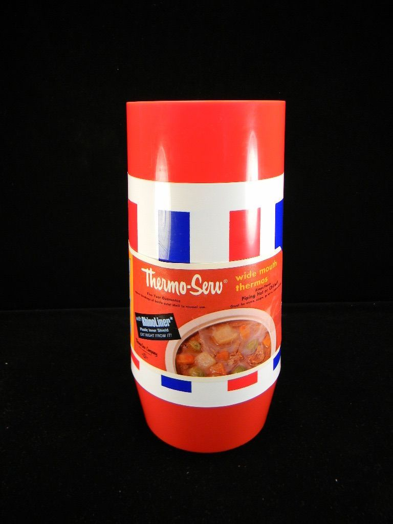 Vintage Thermo-Serv Thermos with Original Label