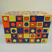 Vintage Geometric Shapes Recipe Box