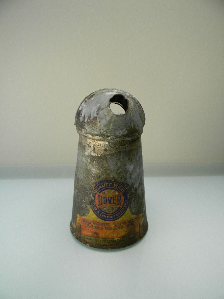 Vintage Dover Oil Can with Original Label