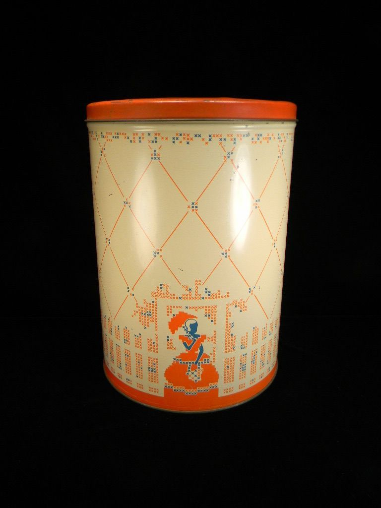 Large Vintage Tin with Southern Belle Motif by Continental Can