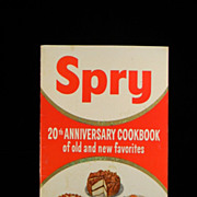Vintage 1955 Spry 20th Anniversary Cook Book