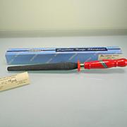 Vintage Norton Crystolon Knife Sharpener with Original Label in Original Box
