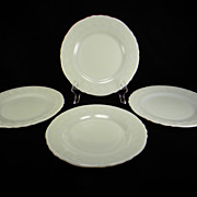Four 1930's Laurel Dinner Plates by McKee Glass Company