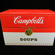 Vintage Red & White  Campbell's Condensed Soups Recipe Box