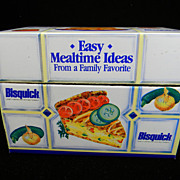 Colorful Vintage Betty Crocker/Bisquick Recipe Box