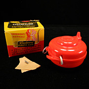 Vintage 1950's Red Lustro-Ware Clothesline in Original Box