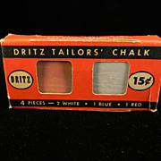 Vintage 1940's Dritz Tailor's Chalk in Original Box