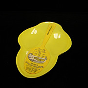 Vintage Yellow Spoon Drip-Plate with Original Label