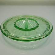 Vintage Green Depression Glass Lid