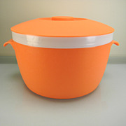 Vintage Hard-To-Find Orange Bolero Therm-O-Ware Ice Bucket & Lid