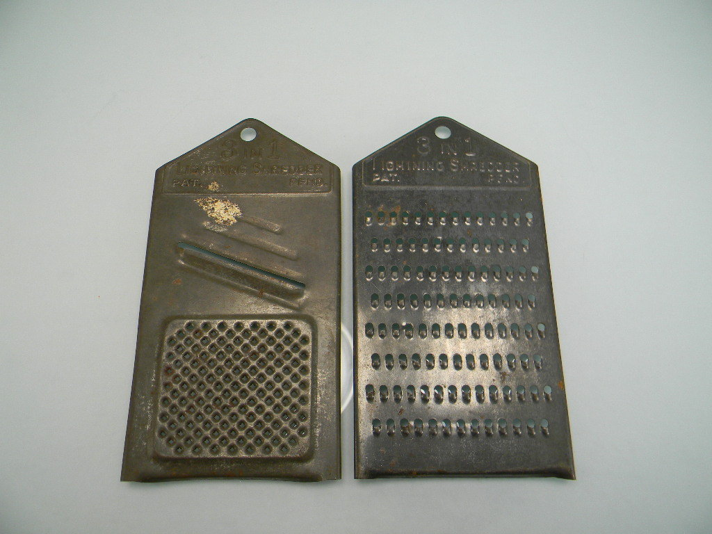 Two Vintage Metal 3 in 1 Lightning Shredders