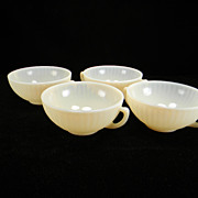 Four Cremax/Ivrene Petalware 2-Handled Cream Soup Bowls by Mac-Beth Evans