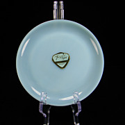 "1950's Hard-To-Find Fire King Turquoise 6 1/8"" Plate with Original Label"