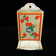 Vintage Strawberry Motif Match Safe