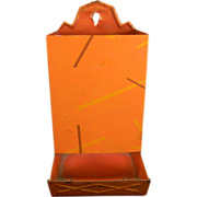 Unique Vintage Salmon-Colored Match Safe