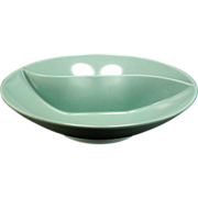 Vintage Green Speckled Melmac Divided Vegetable Bowl